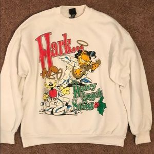 VTG 1994 Garfield Xmas Sweater